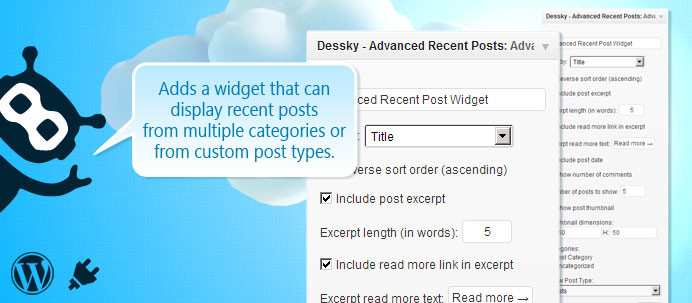 Dessky Advanced Recent Posts Widget