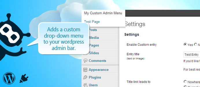 Dessky Custom Admin Bar Plugin