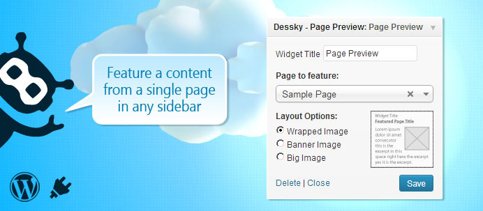 Dessky Page Preview Widget