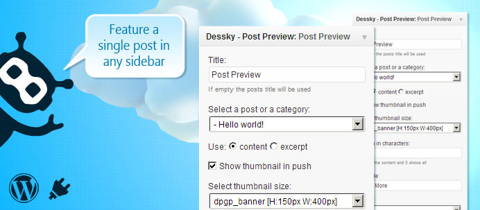 Dessky Post Preview Widget