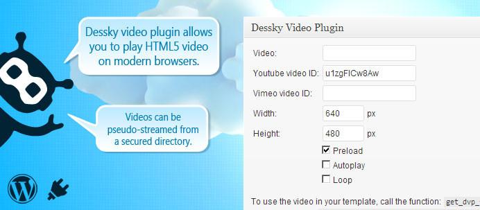 Dessky Video Plugin